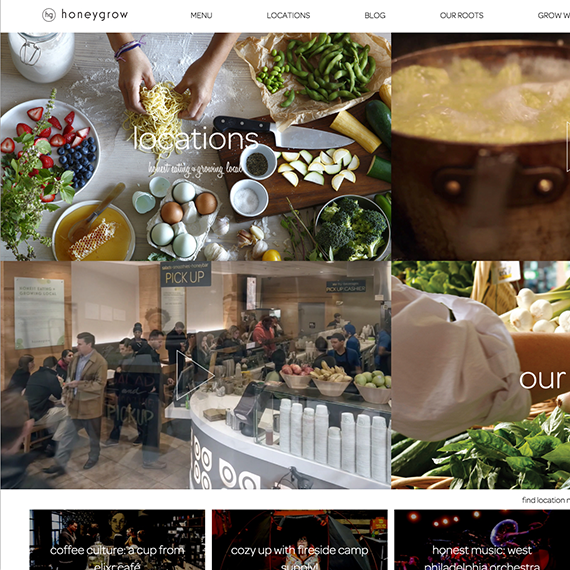 Comprehensive web design & development for a major restaurant chain headquartered in Philadelphia PA
